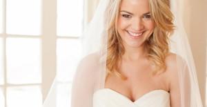Bröllopsfrisyr till henne