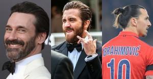 Bild visar John Hamm, Jake Gyllenhall och på Zlatans frisyrer