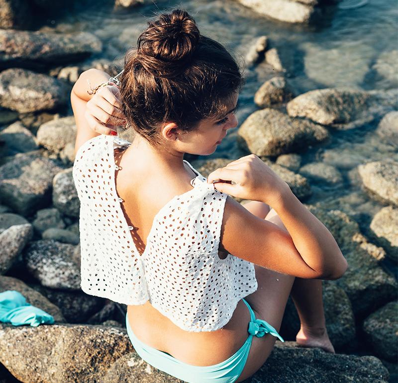 Inspiration hårknut för ditt beachhår
