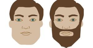Skulptera med skägg när du har fyrkantig ansiktsform