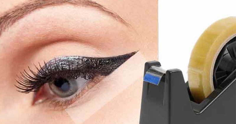 Makeup-knep med tejp