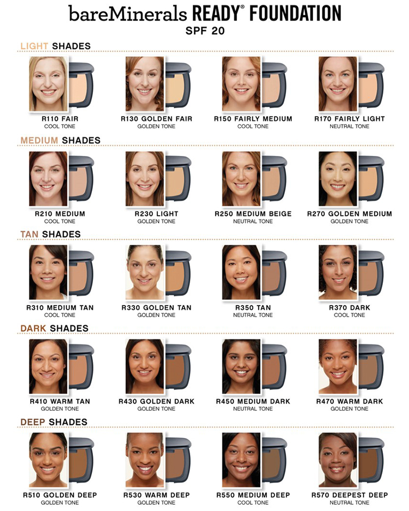 bareMinerals Ready Foundation nyanser