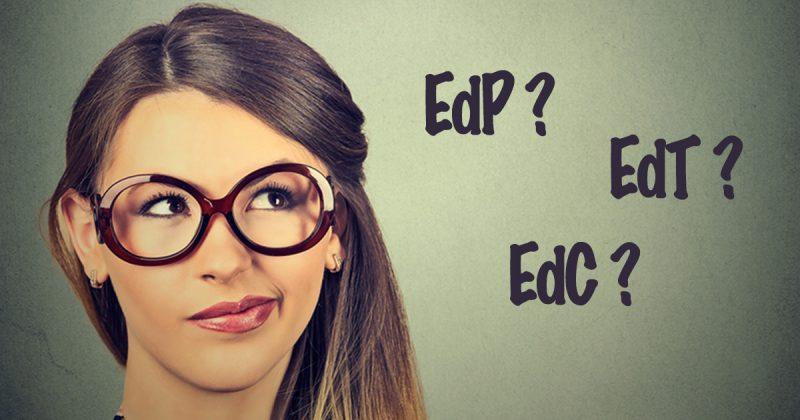 Parfym, EdP, EdT och EdC
