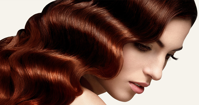 Färgat hår