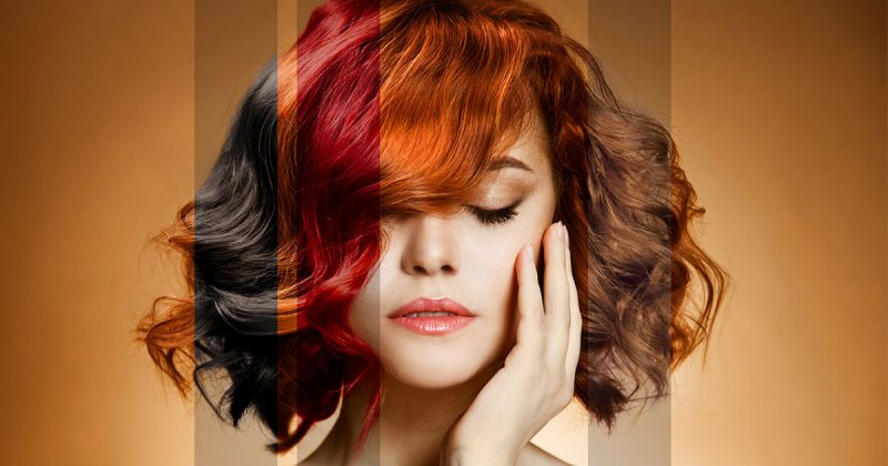 avfärgning hår pris