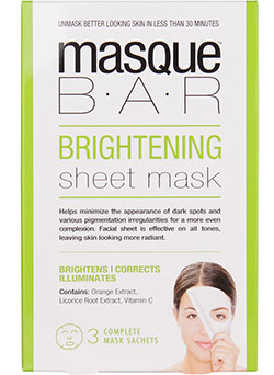 Masque bar, sheet mask, brightening