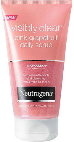 Visibly-Clear pink grapefrukt scrub Neutrogena